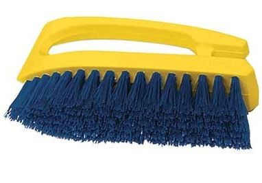 Utility Scrub Brush, 6 Inch Long, Synthetic Bristle, Iron Style Handle