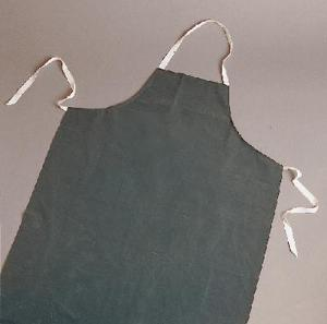 Lab Aprons 27 X 42 Black Rubberized Protects Clothes From Acids - WLS1752-36