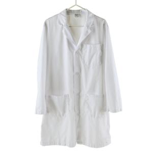 Lab Coat, Knee Length White Snap Front, XL - Wards 151230