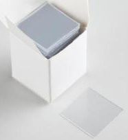 Square Plastic Cover Slips, 22 mm, Clear Vinyl, 0.2 In. Thick - 100/Pkg - WLS58771