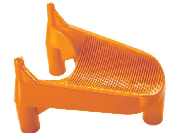 2 Inch Kickoff Tees, Rubber, Orange - 66-653