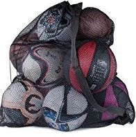 30 L X 18 Inch W Mesh Net  Ball Bag With Drawstring and Shoulder Strap