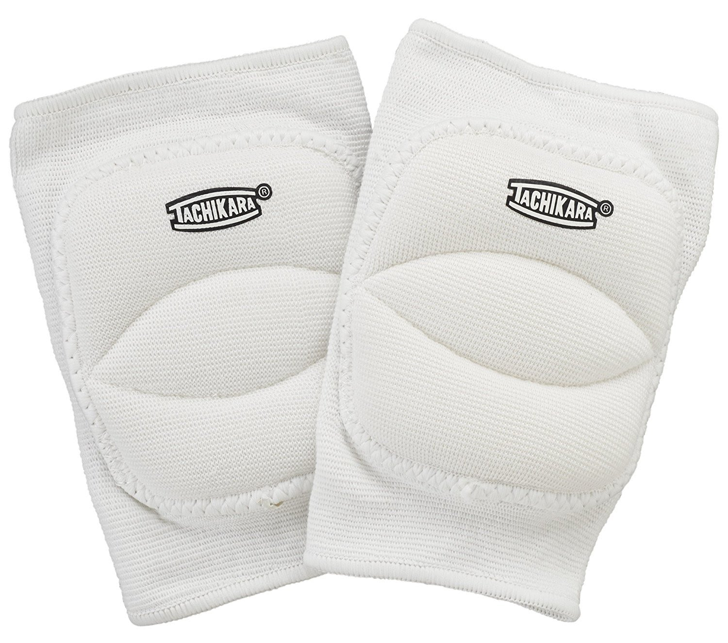 Tachikara Volleyball Knee Pads, One Size Fits All, White - Pair - 61-828