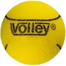 1-1/2 Inch Volley Uncoated Very High Bounce Foam Balls, Yellow - 12/Set