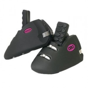Goalie Kickers, Black With Soles - Pair