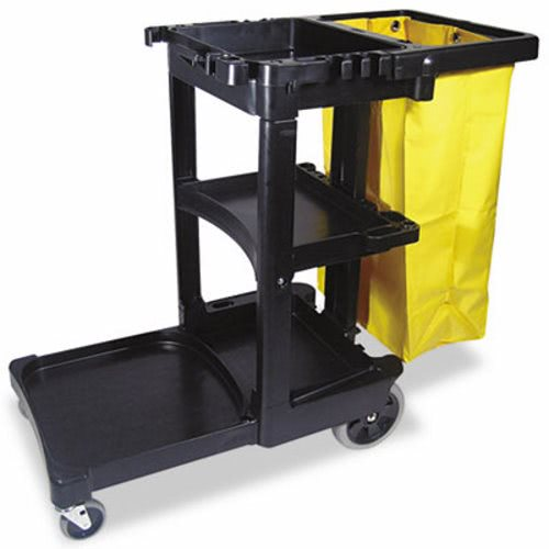 20W X 45D X 38L-1/4H, Janitorial Cart, Multi-Shelf, 25 Gallon Vinyl Bag, Platform Holds Standard Size Bucket, Rubbermaid  #6173 Or Continental #174  / Wilen