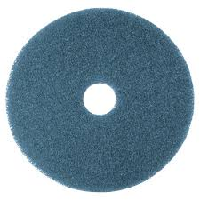 19 Inch Blue Cleaning Scrubbing Pad, 3M #MMM08412 - 5/Case