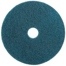 17 Inch Blue Cleaning Scrubbing Pad, 3M #MMM08410 - 5/Case