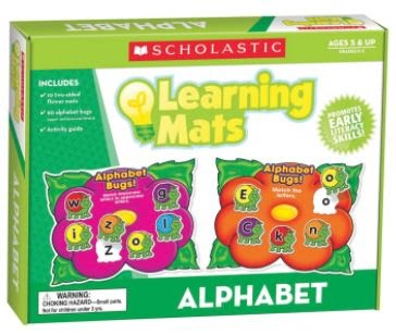 Alphabet Bugs Learning Mats, 2-Sided, 10/Set - 2002256