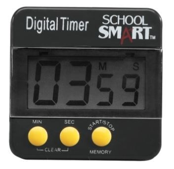 "Count Up/Count Down Big Digital Timer, 2-1/2 X 2-1/2"" - (Lakeshore Learning PP183)"