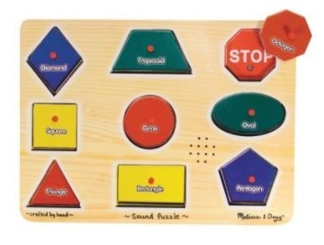 Simple Shapes Sound Puzzle Board