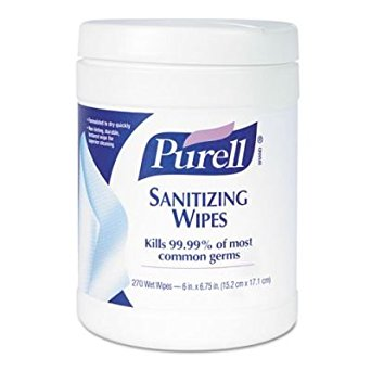 Purell Wipes Hand Sanitizer, 6 X 8, 270 Wipes/Canister - GJ911306- 6/Case