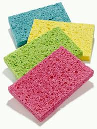 6-1/4 X 3-3/8 Inch, Cleaning Sponge,  Medium Duty Cellulose - 8/Box - 5/Case