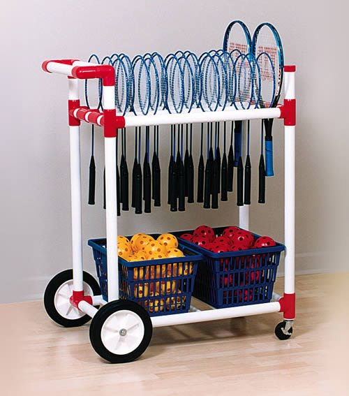 Racket Cart, Stores, Transports Up To 100 Rackets Or Paddles