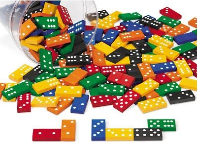 Dominoes, Wooden, Assorted Colors - 168/Set - (Lakeshore Learning RA802)