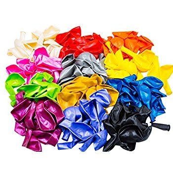 "12"" Multi-Colored Balloons - 144/Pkg"