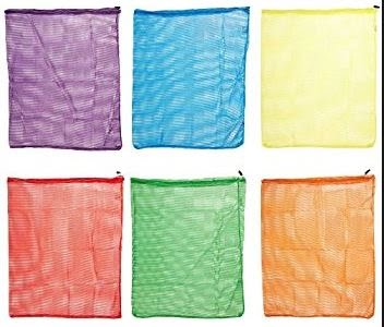 24 X 36 Inch Heavy Duty Mesh Storage Bags, Assorted Colors - 6/Set