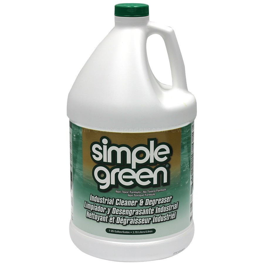 Simple Green Liquid Cleaner / Degreaser, Nontoxic, Nonabrasive SMP13005 - Gallon - GREEN - Not Green Seal Approved
