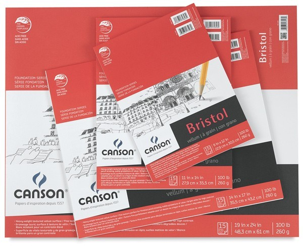 Canson Foundation Bristol Board 9x12 B13319-2023