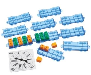Didax Unifix Ten-frame Train Manipulative Grades K-2 -10/Set