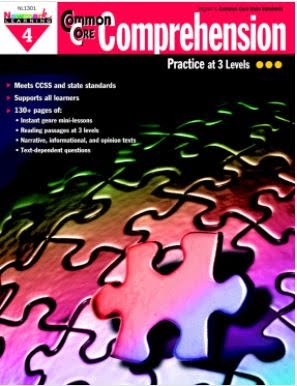 Newmark Learning Common Core Comprehension Reproducible Book, Gr 4