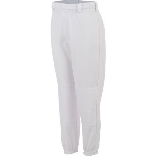 Baseball Pant, Belted Waist, Adult - White - L - X-Large
