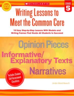 Scholastic Writing Lessons to Meet the Common Core, Gr 5