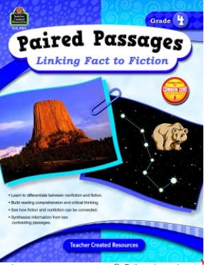 Paired Passages: Linking Fact to Fiction Book, Grade 4