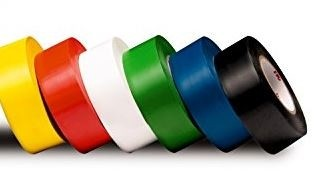 "1"" X 36 Yds Floor Marking Tape, Assorted Colors - 6/Pkg"