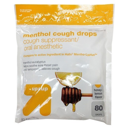 Generic Menthol Cough Drops, Honey Lemon - 40/Pkg - 44535
