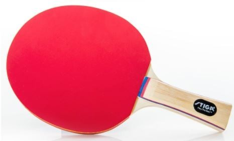 Deluxe Table Tennis Paddle, 5 Ply, Hardwood Handle, Rubber Face - Stiga Reflex