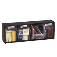 Black Interlocking Tilt Bins - 4 Units - 91213