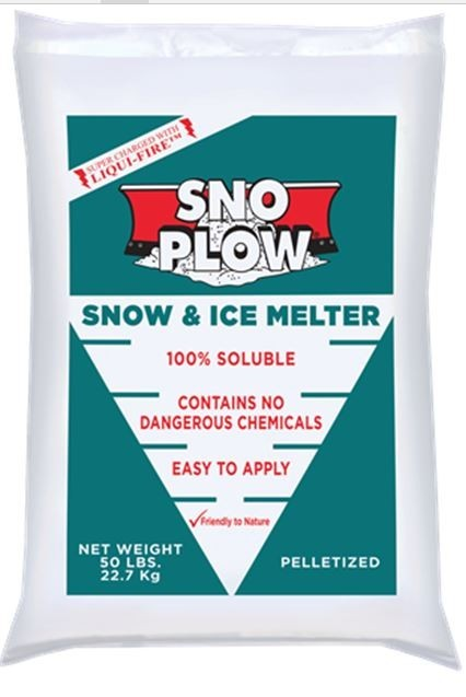 Sno-Plow Snow / Ice Melter, with Liqui Fire - 50# Bag - 49/ Pallet - MGR513006