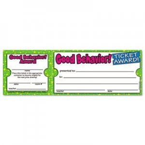 Scholastic Ticket Awards Class Pack, 8-1/2 X 2-3/4 In. - 5/Pkg