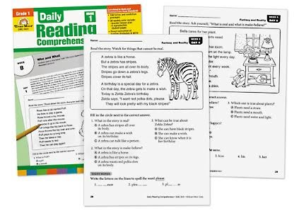 Daily Reading Comprehension Activities - Grade 1 - (Lakeshore Learning DR341)