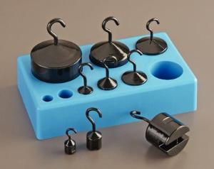 Hooked Weight Set, 10g to 1000g - Cast Iron - 9/Set - Ward's 4899700