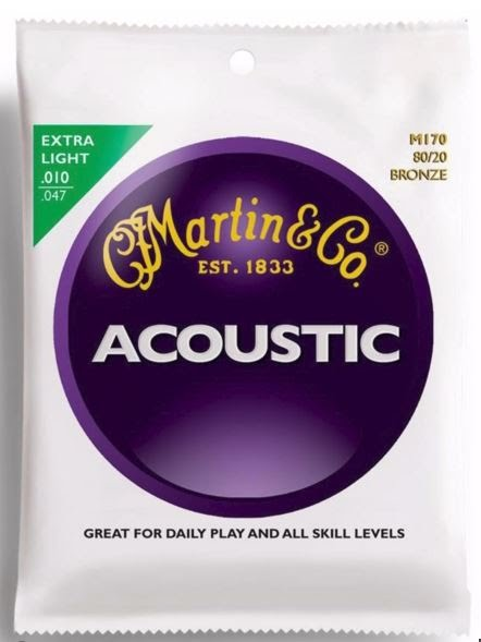 String Set - Acoustic Guitar - Martin 80/20 Bronze Wound Extra Light