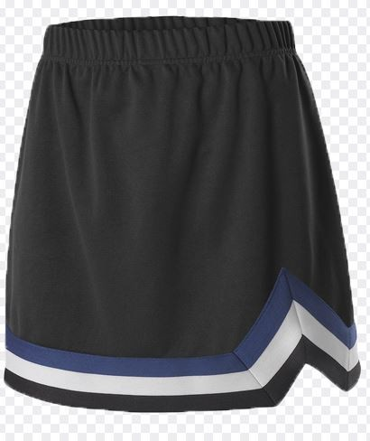Cheerleading Skirt - Alleson, Rhythm polyester, Color:  Black/White, Specify Color Outline, Sizes S-XL