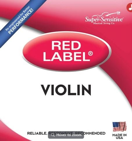 String Set - 1/2 Violin, Super-Sensitive Red Label - 299SH-P