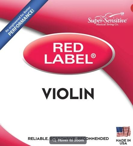 String Set - 3/4 Violin, Super-Sensitive Red Label - 299ST-P