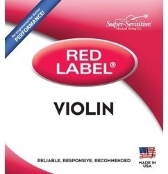 String Set - 3/4 Violin, Super-Sensitive Red Label - Medium Gauge - 299S 34