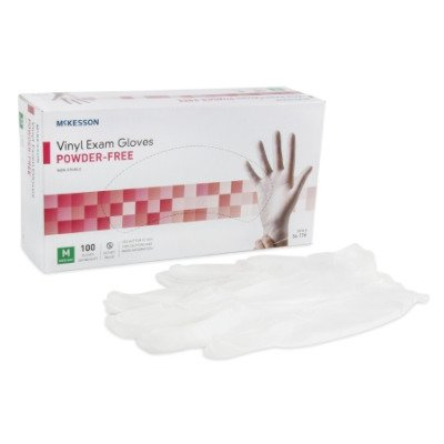 Vinyl Powder Free Disposable Exam Gloves, Non Sterile - Medium - 100/Box - 21325