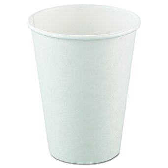 Paper Drinking Cups 12 Oz , SSP Poly Lined Solo 412WN-2050 - 50/sleeve - 1000/Case