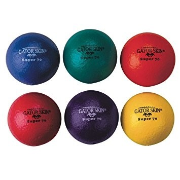 "7"" Super Coated (Gator) Skin Foam Ball - 6/Set"