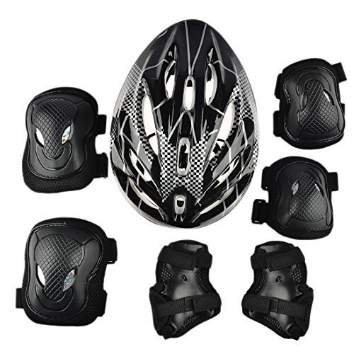Adult Inline Skate Package, Includes Skates, Helmet, Protective Gear for Sizes 6-13