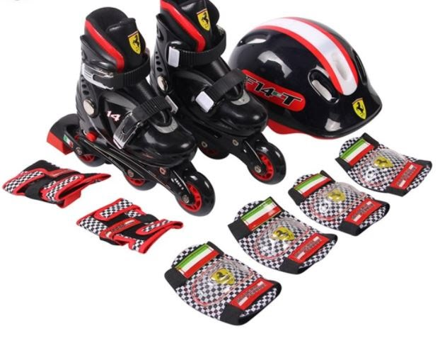 Youth Inline Skate Package, Includes Skates, Helmet, Protective Gear for Sizes 1-11, 2-5 & 5-8