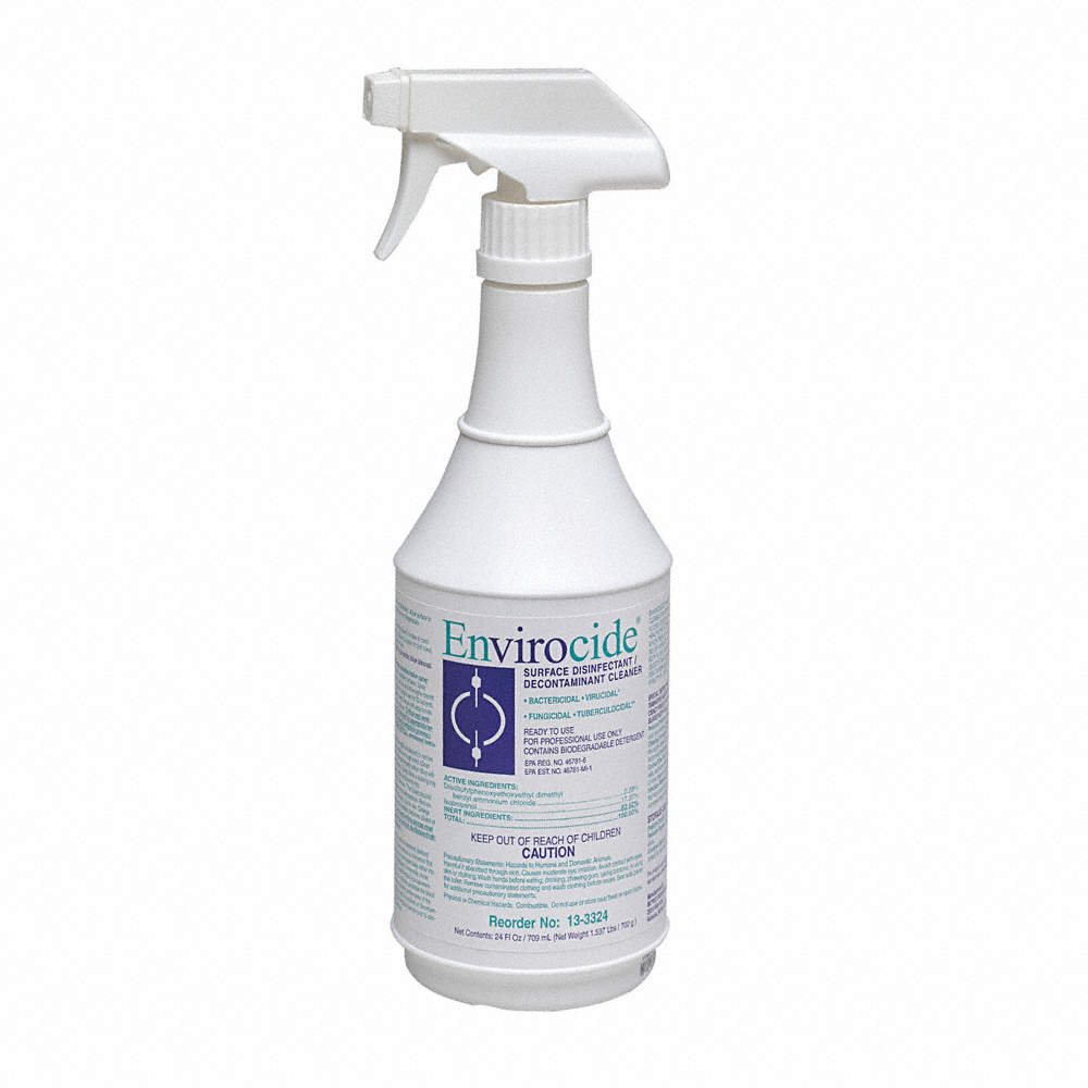 Envirocide Cleaner Disinfectant / Decontaminate - 24 oz. Spray - 50062
