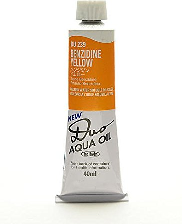 Duo Aqua Oil Color, 40 ml - Benzidine Yellow