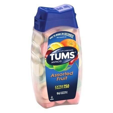 Tums EX Extra Strength - Assorted Flavors - 96 Tablets/Bottle - 44204