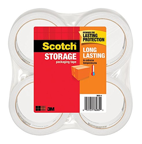 "1.88"" X 54.6 Yds. Scotch 3650 Shipping and Storage Tape, 3"" Core, Hand- Held Dispenser, 6/Pkg"